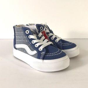 Vans Sk8-Hi Zip Chambray Canvas Sneakers